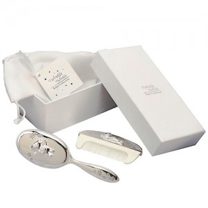 Twinkle-Twinkle-Silver-Plated-Brush-&-Comb-Set-Christening-Gift