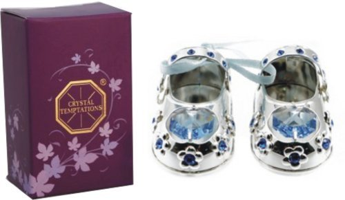 Christening Baby Boy Gift Silver Plated Baby Shoes With