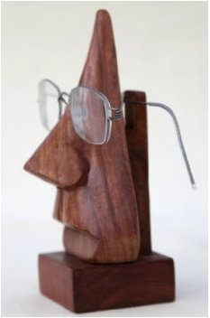 Christmas-Gifts-Quirky-Handmade-Nose-Shaped-Wooden-Decorative-Spectacle-Reading-Glass-Holder-Stand-0
