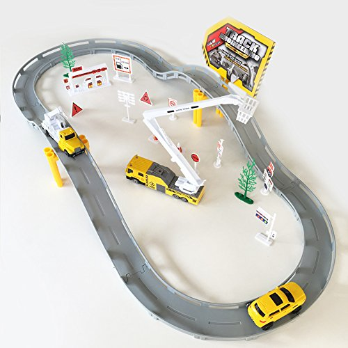 Fajiabao Electronic Racing Trucks Railway Track Rail Car Toys Game Set Best Birthday Gift For Kids Boys Educational Learning