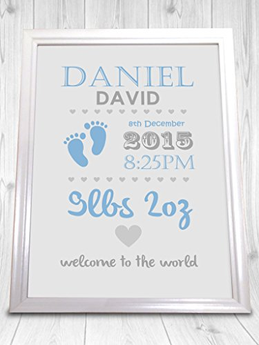 Personalised-Christening-Print-Boy-and-Girl-Perfect-Gift-New-Baby-Present-Unframed-Print-Looks-Stunning-In-A-Nice-Frame-0